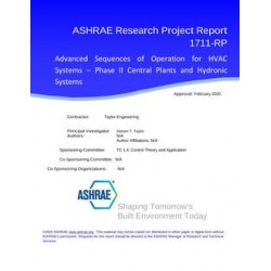RP-1711 -- Advanced Sequences of Operation for HVAC Systems - Phase II Central Plants and Hydronic Systems