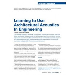 Engineer&x27;s Notebook: Learning to Use Architectural Acoustics in Engineering